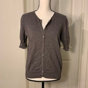 Eddie Bauer Essential Cardigan Short Sleeve M